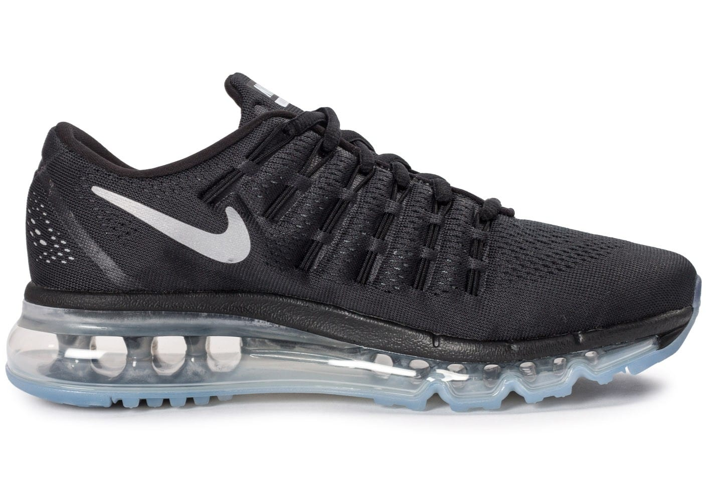 best sneakers 5ee40 a5867 ... chaussures nike air max 2016 junior noire vue interieure