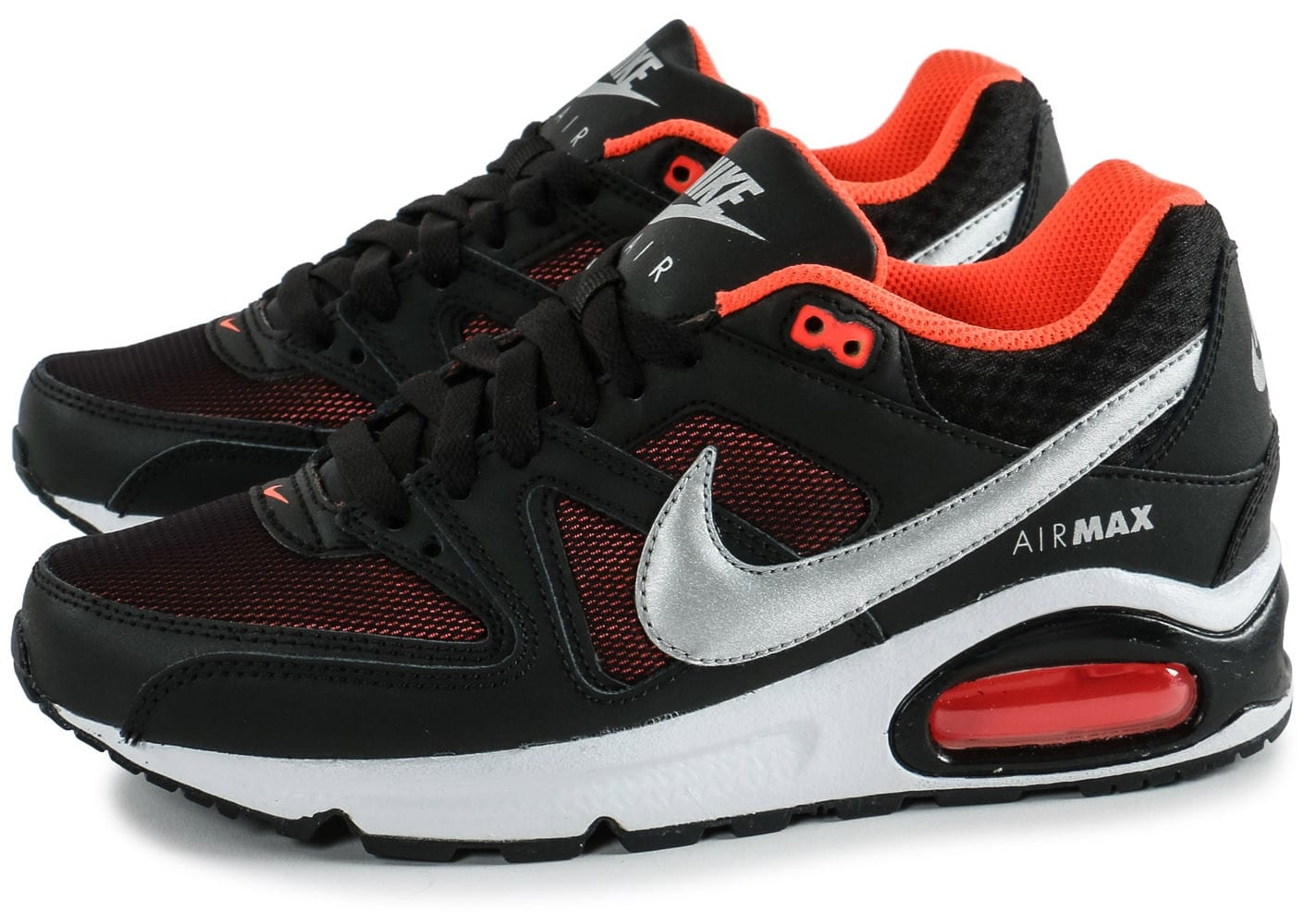 nike air max command junior noir orange chaussures chaussures chausport. Black Bedroom Furniture Sets. Home Design Ideas