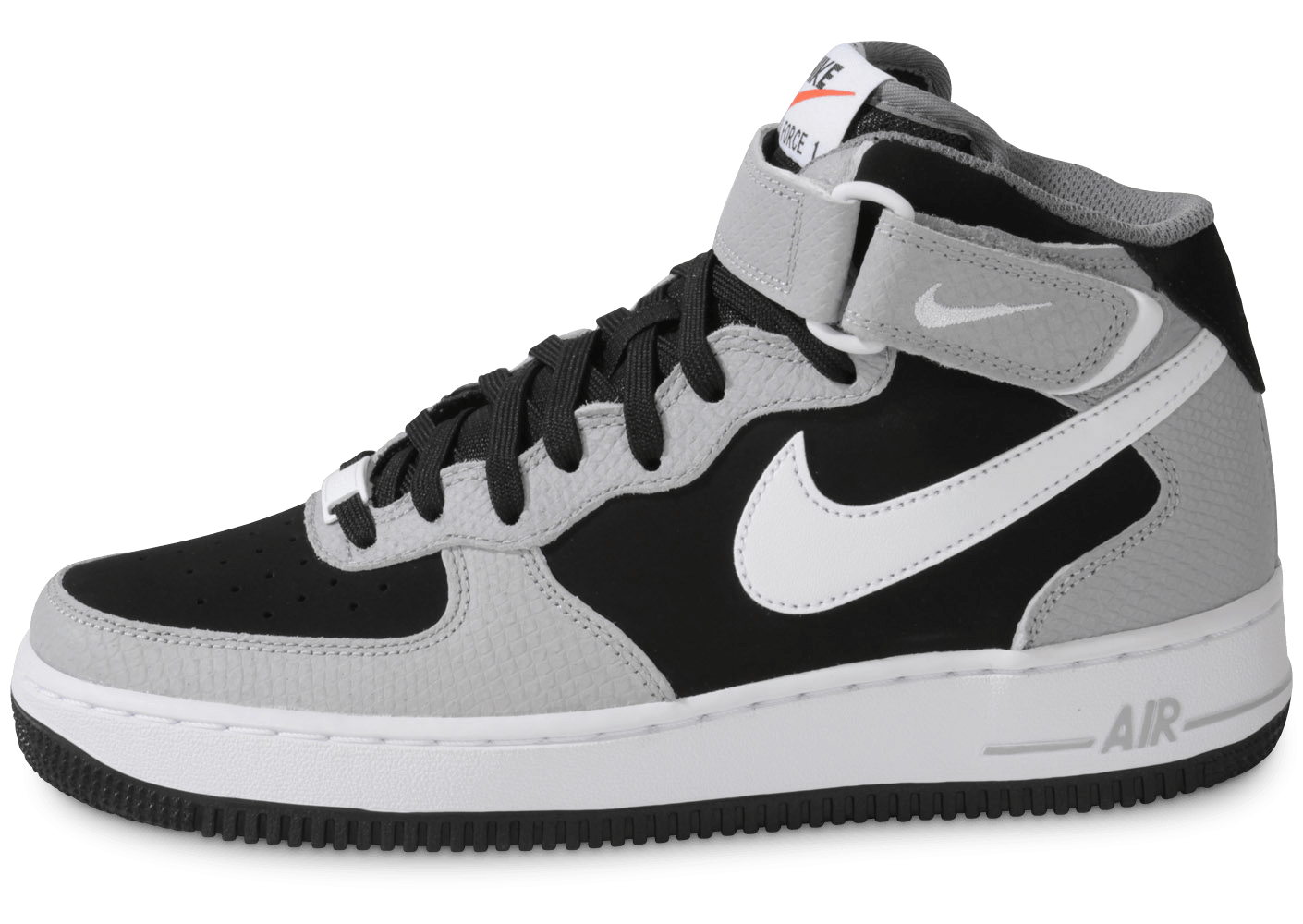 nike air force 1 mid black wolf grey chaussures homme. Black Bedroom Furniture Sets. Home Design Ideas