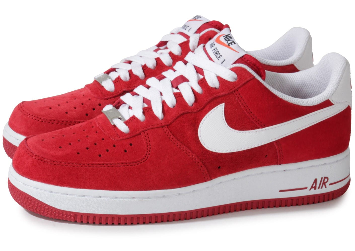 nike air force 1 suede rouge chaussures homme chausport. Black Bedroom Furniture Sets. Home Design Ideas