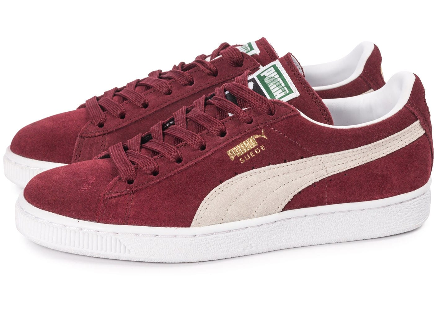puma suede classic w bordeaux chaussures toutes les baskets sold es chausport. Black Bedroom Furniture Sets. Home Design Ideas