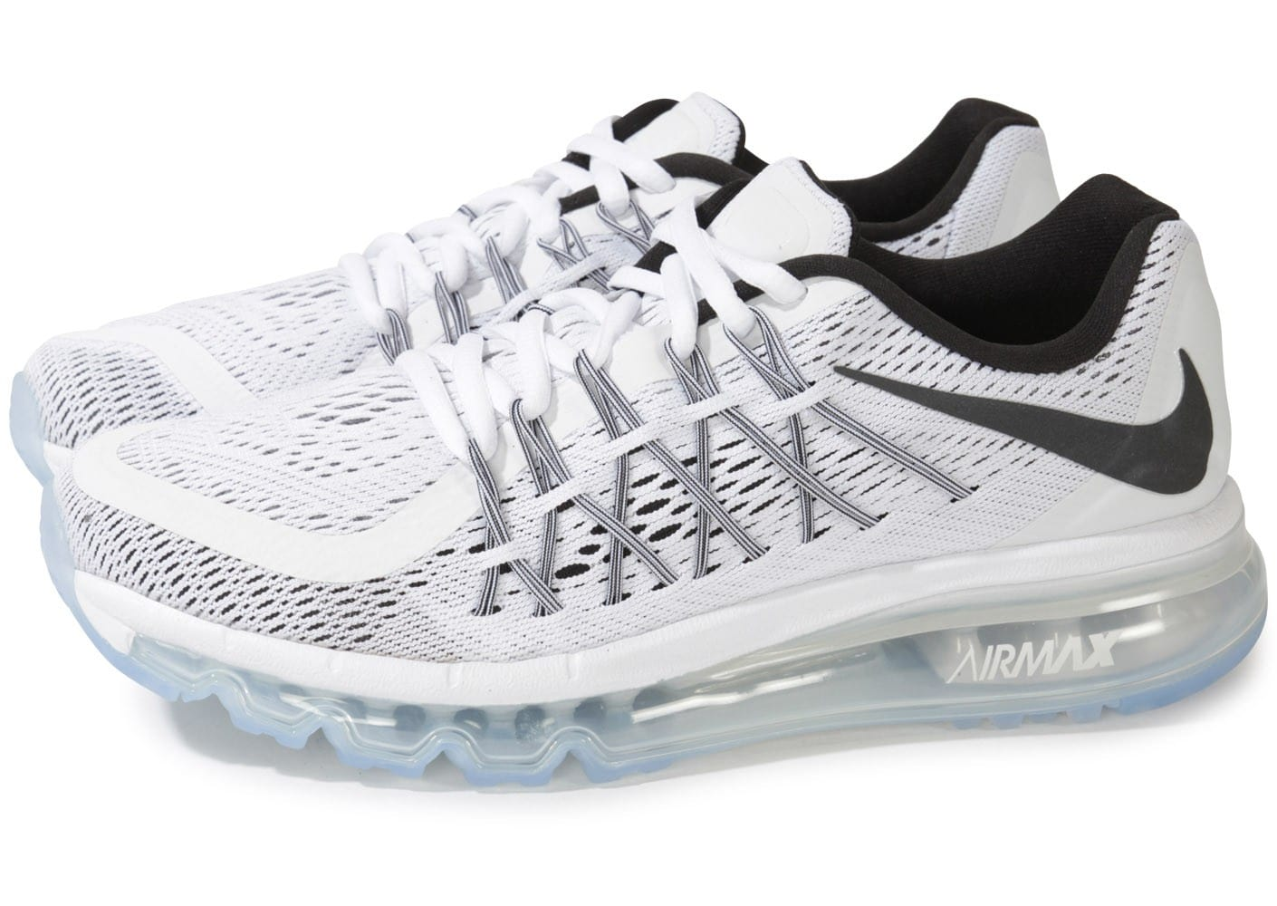 nike air max 2015 gs blanche et noire chaussures chaussures chausport. Black Bedroom Furniture Sets. Home Design Ideas