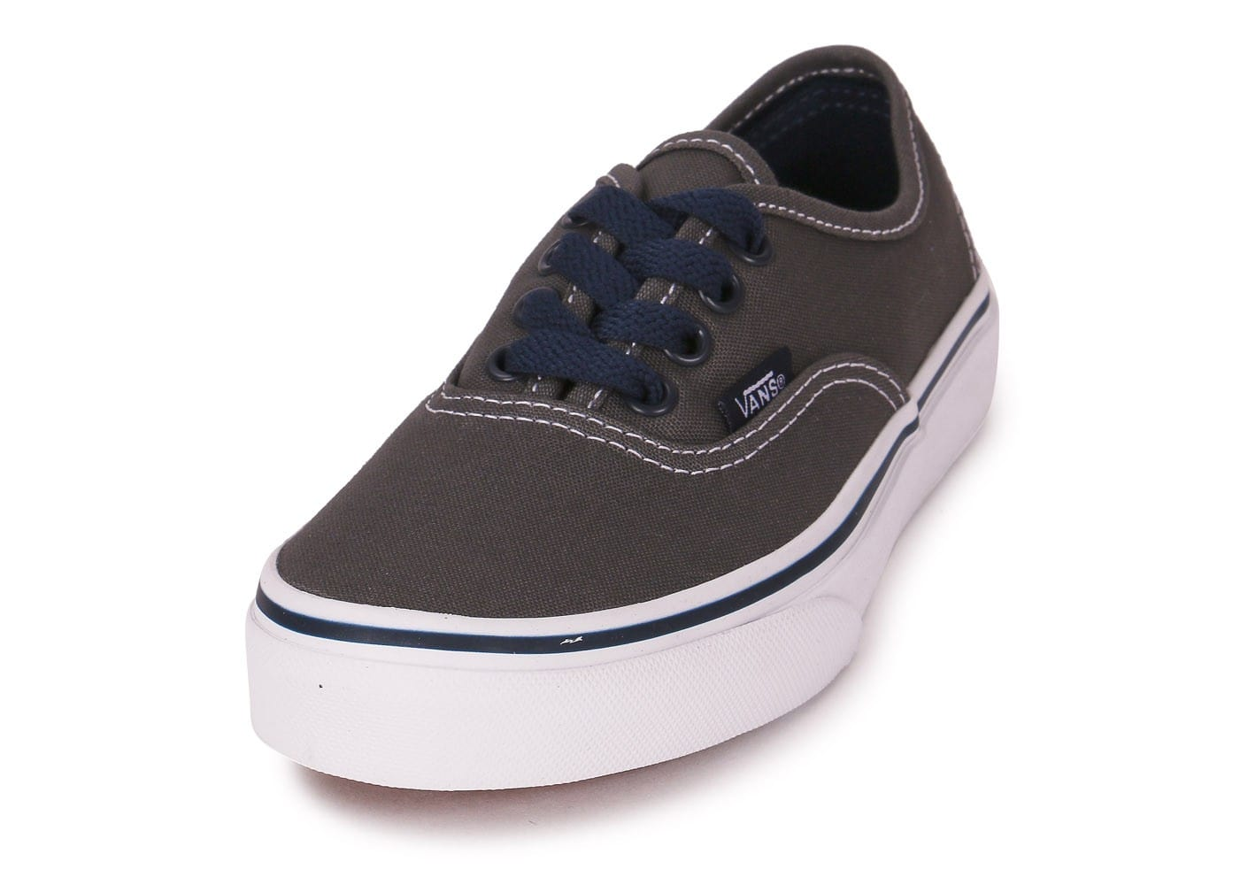 soldes vans authentic enfant grise chaussures toutes les baskets sold es chausport. Black Bedroom Furniture Sets. Home Design Ideas