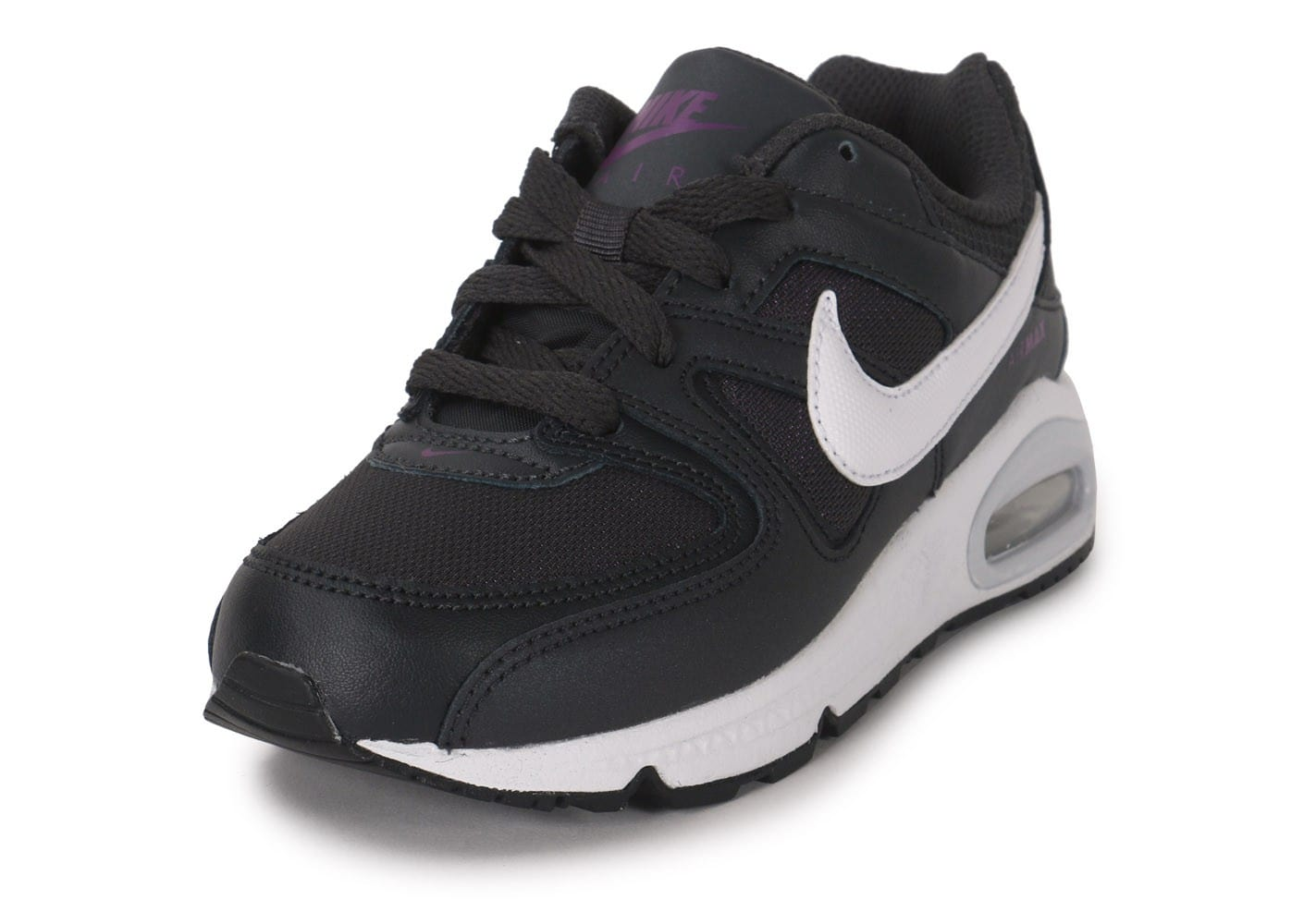 nike air max command enfant gris anthracite et violet chaussures chaussures chausport. Black Bedroom Furniture Sets. Home Design Ideas