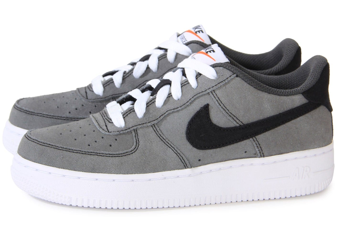 nike air force 1 low grise gs chaussures chaussures chausport. Black Bedroom Furniture Sets. Home Design Ideas
