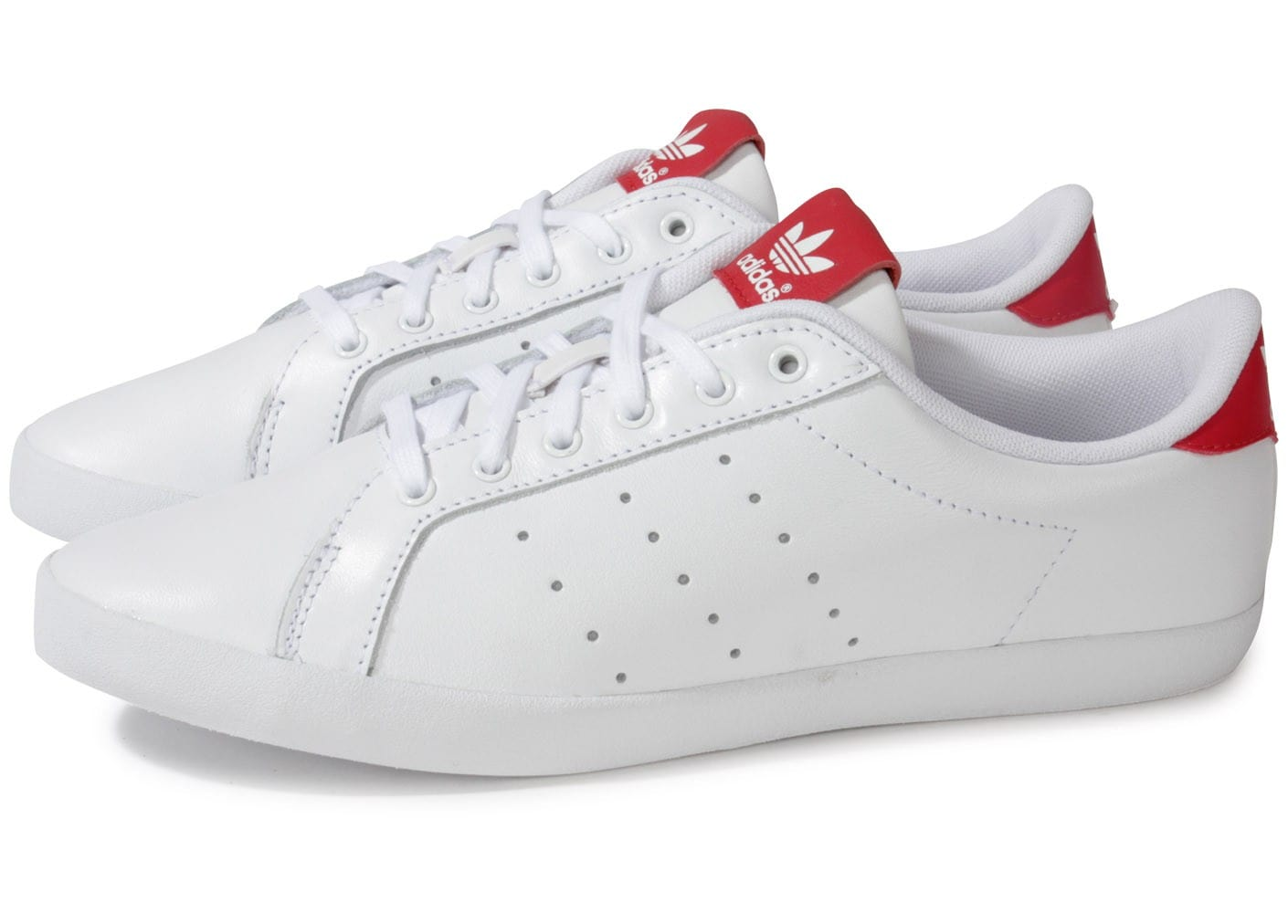 adidas miss stan blanche rouge chaussures adidas chausport. Black Bedroom Furniture Sets. Home Design Ideas