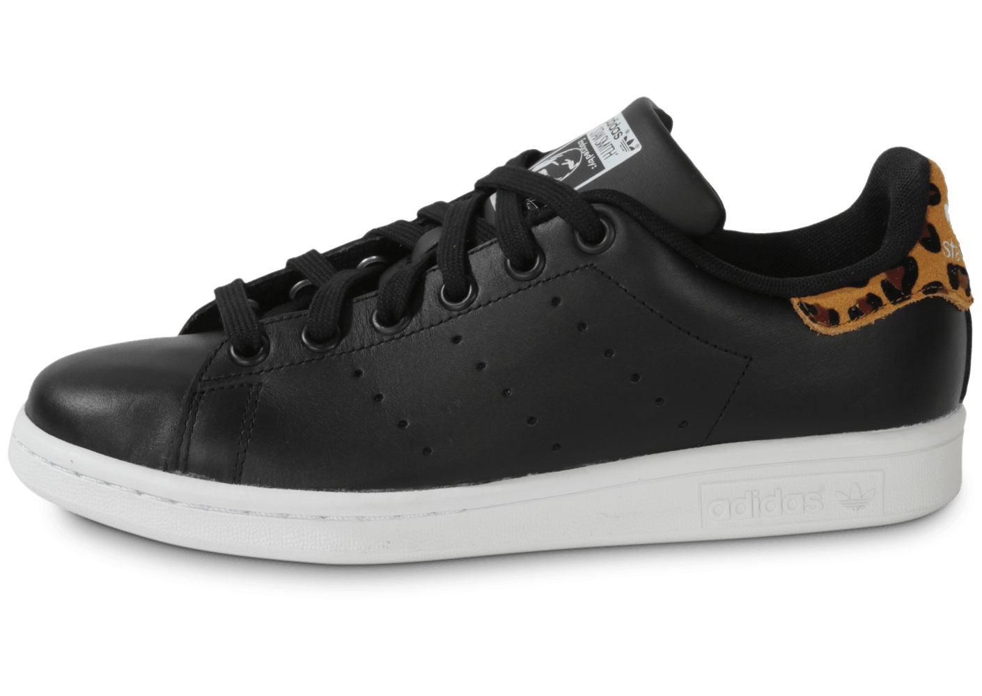 adidas baskets scratch stan smith leopard noir
