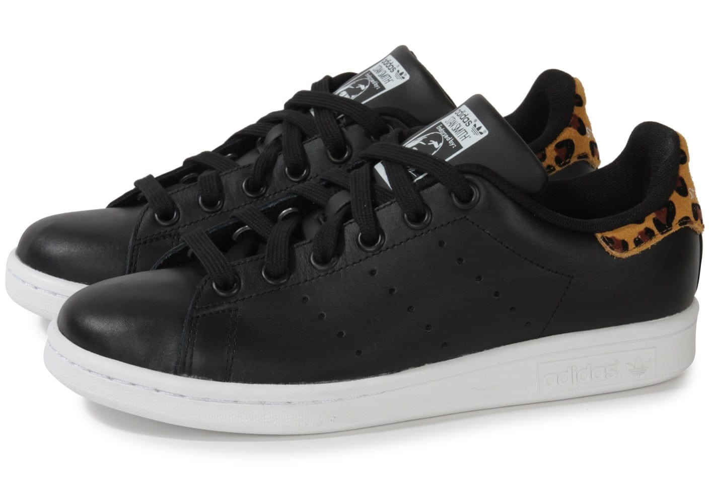 adidas stan smith noire animal leopard