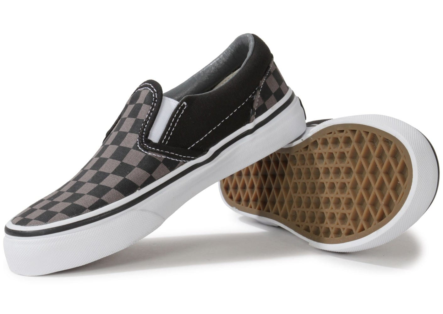 vans classic slip on damier enfant chaussures chaussures chausport. Black Bedroom Furniture Sets. Home Design Ideas