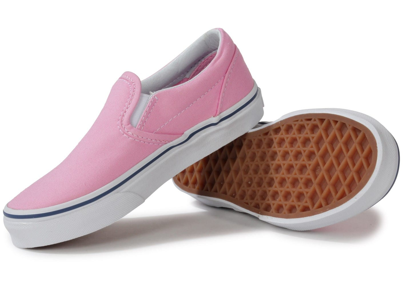 vans classic slip on rose enfant chaussures chaussures chausport. Black Bedroom Furniture Sets. Home Design Ideas