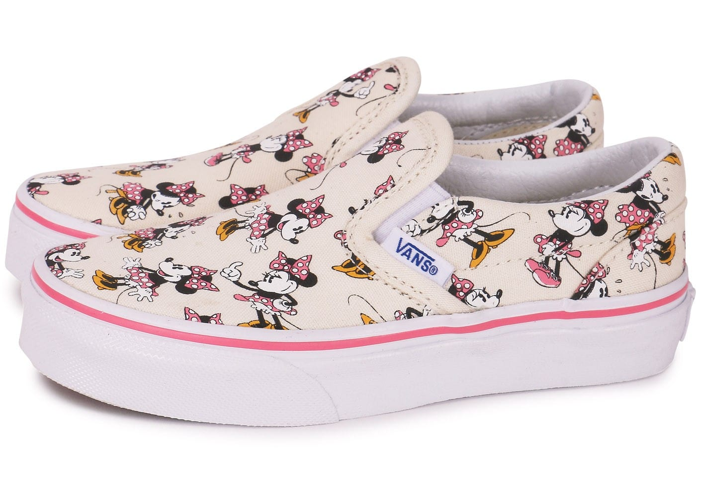 vans classic slip on disney minnie enfant chaussures chaussures chausport. Black Bedroom Furniture Sets. Home Design Ideas