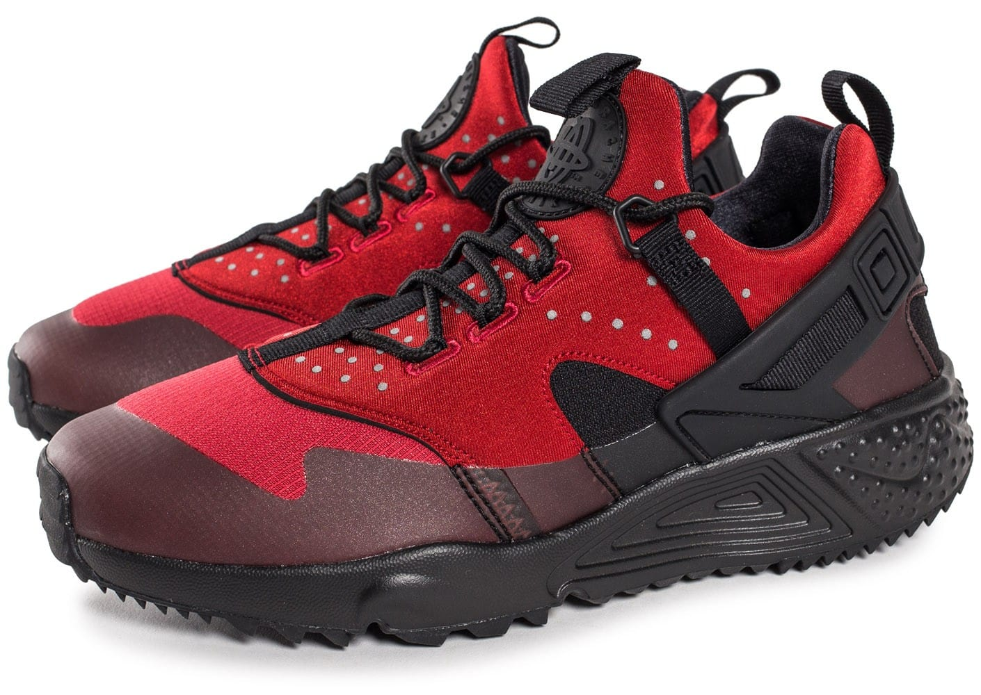 nike air huarache utility rouge chaussures homme chausport. Black Bedroom Furniture Sets. Home Design Ideas