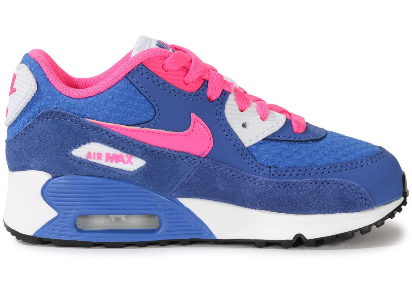nike air max 90 enfant bleu et rose chaussures chaussures chausport. Black Bedroom Furniture Sets. Home Design Ideas