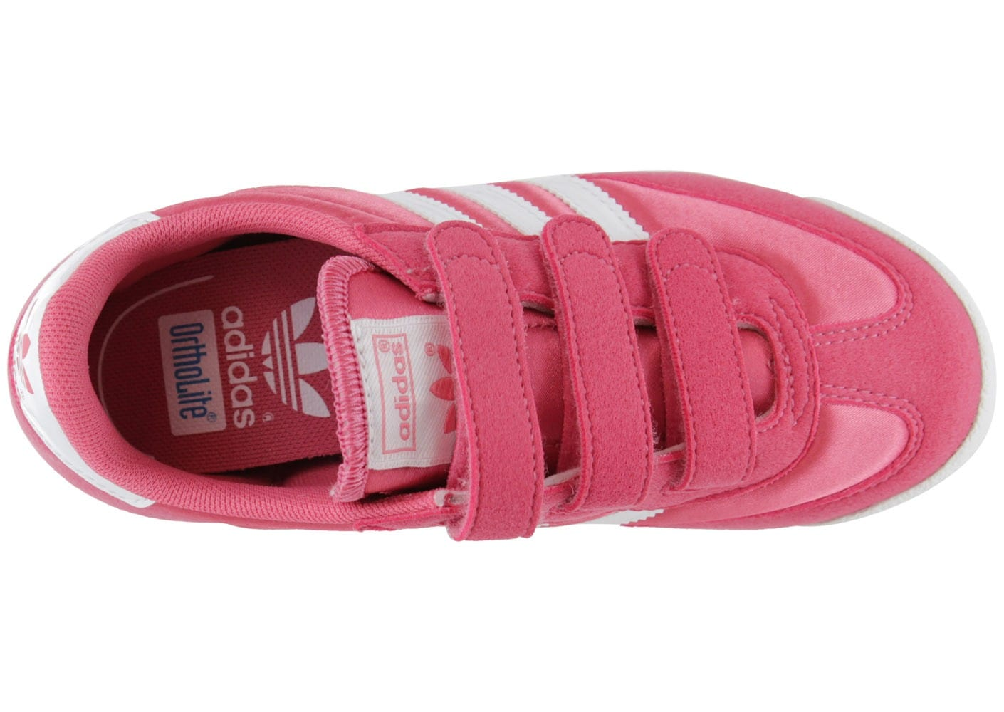 outlet store 4a7db f4c4f ... chaussures adidas enf dragon rose blc t313 vue dessus