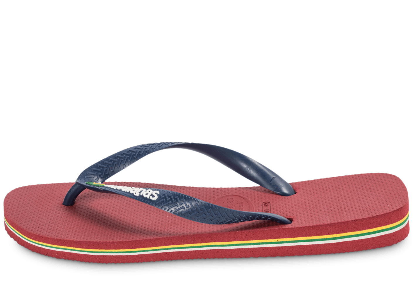 havaianas tongs brasil logo rouge chaussures homme chausport. Black Bedroom Furniture Sets. Home Design Ideas