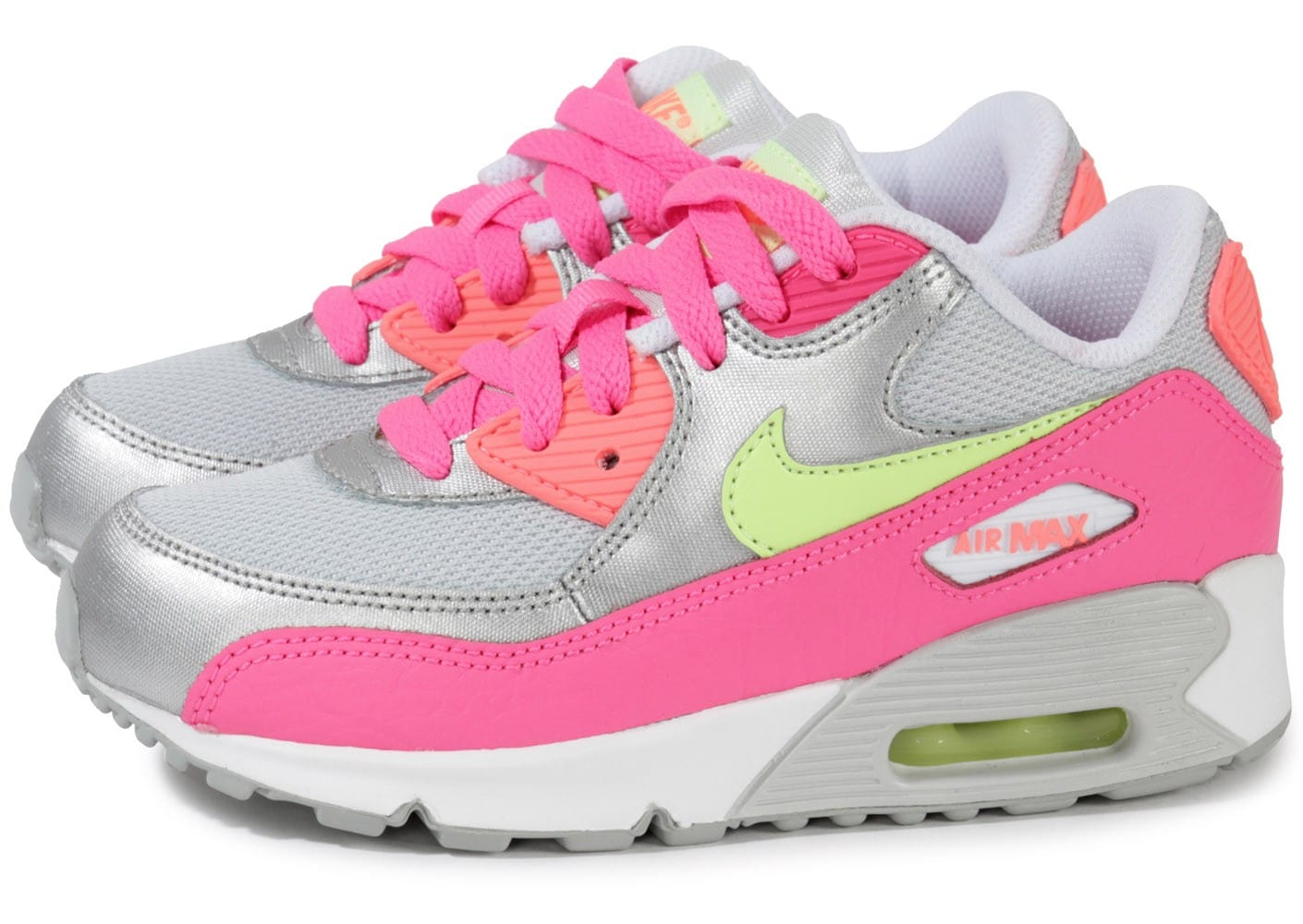nike air max 90 enfant platinium rose chaussures chaussures chausport. Black Bedroom Furniture Sets. Home Design Ideas