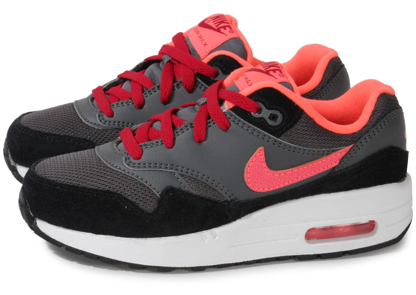 nike air max 1 enfant grise lava chaussures chaussures chausport. Black Bedroom Furniture Sets. Home Design Ideas