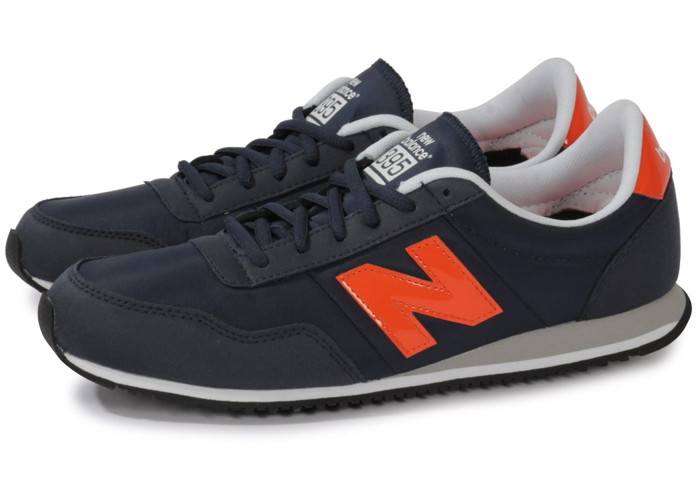 new balance u395 mnno bleu marine et orange chaussures homme chausport. Black Bedroom Furniture Sets. Home Design Ideas