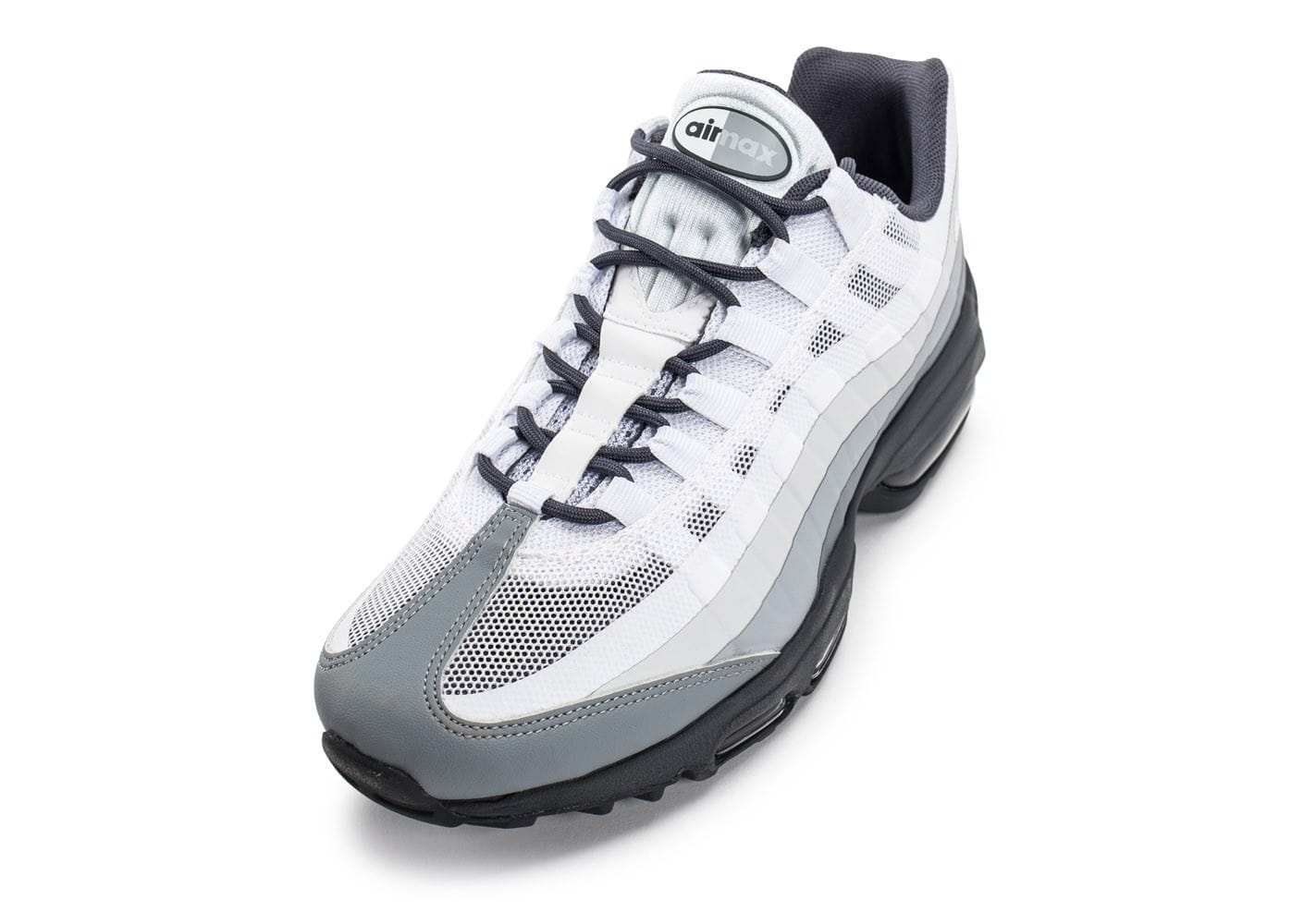 promo code 40f77 544ba ... chaussures nike air max 95 ultra blanche et grise vue arriere .
