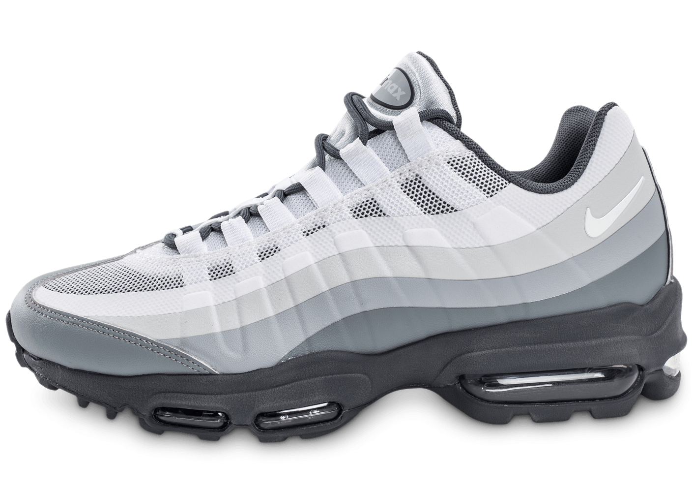 nike air max 95 ultra essential blanche et grise chaussures homme chausport. Black Bedroom Furniture Sets. Home Design Ideas