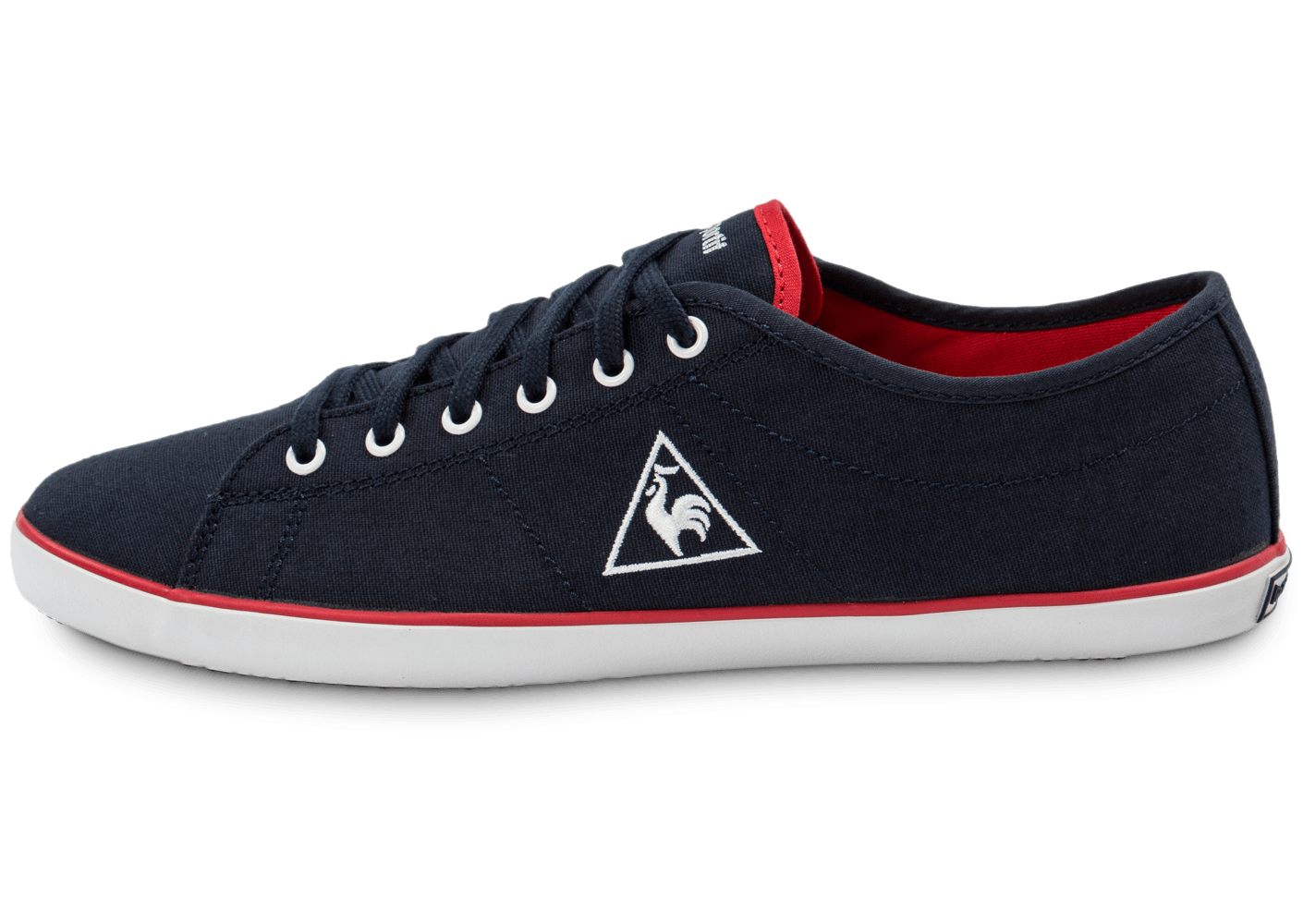 le coq sportif slimset toile bleu marine chaussures homme chausport. Black Bedroom Furniture Sets. Home Design Ideas