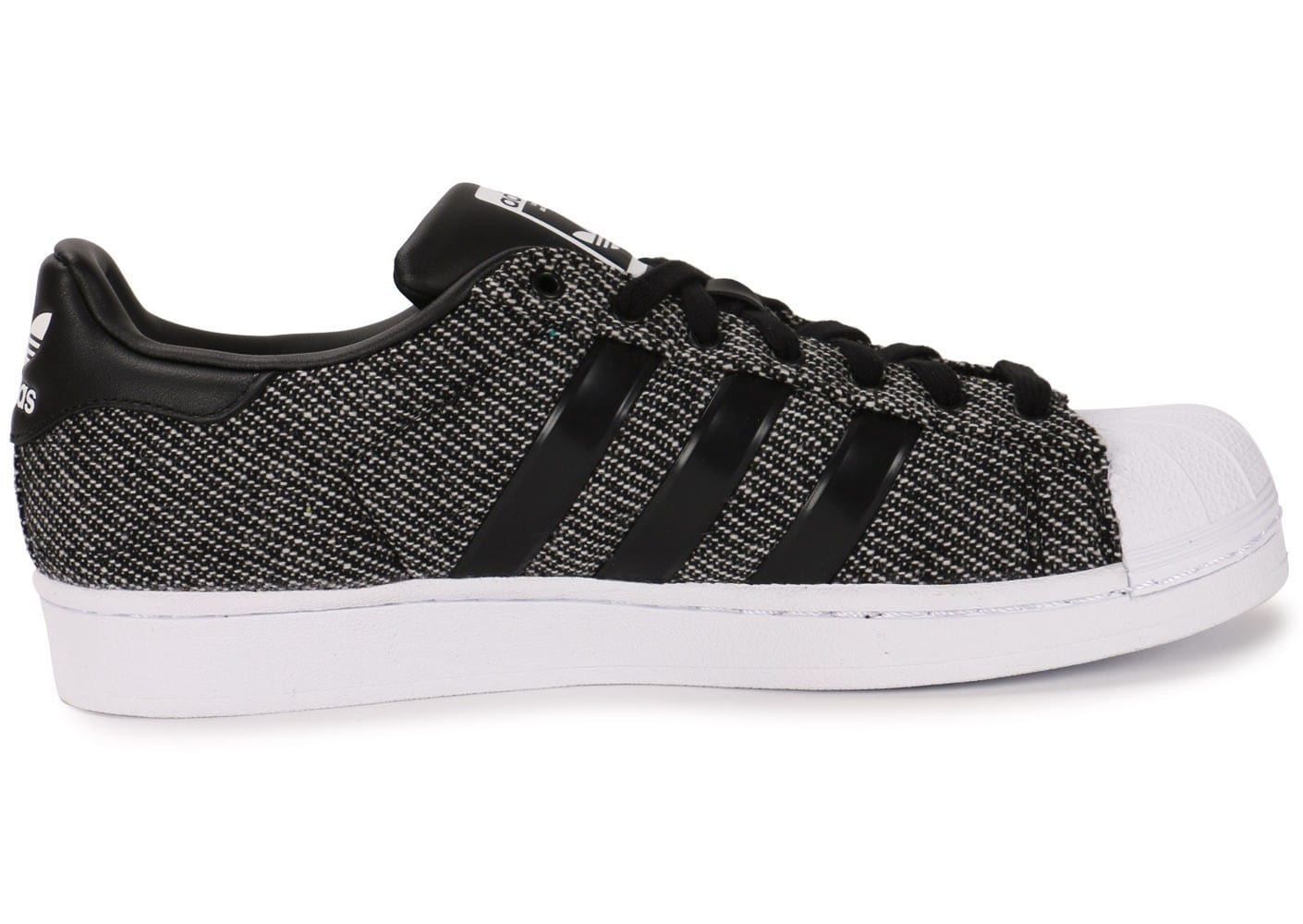 adidas - baskets superstar winterized noir blanc d'adidas