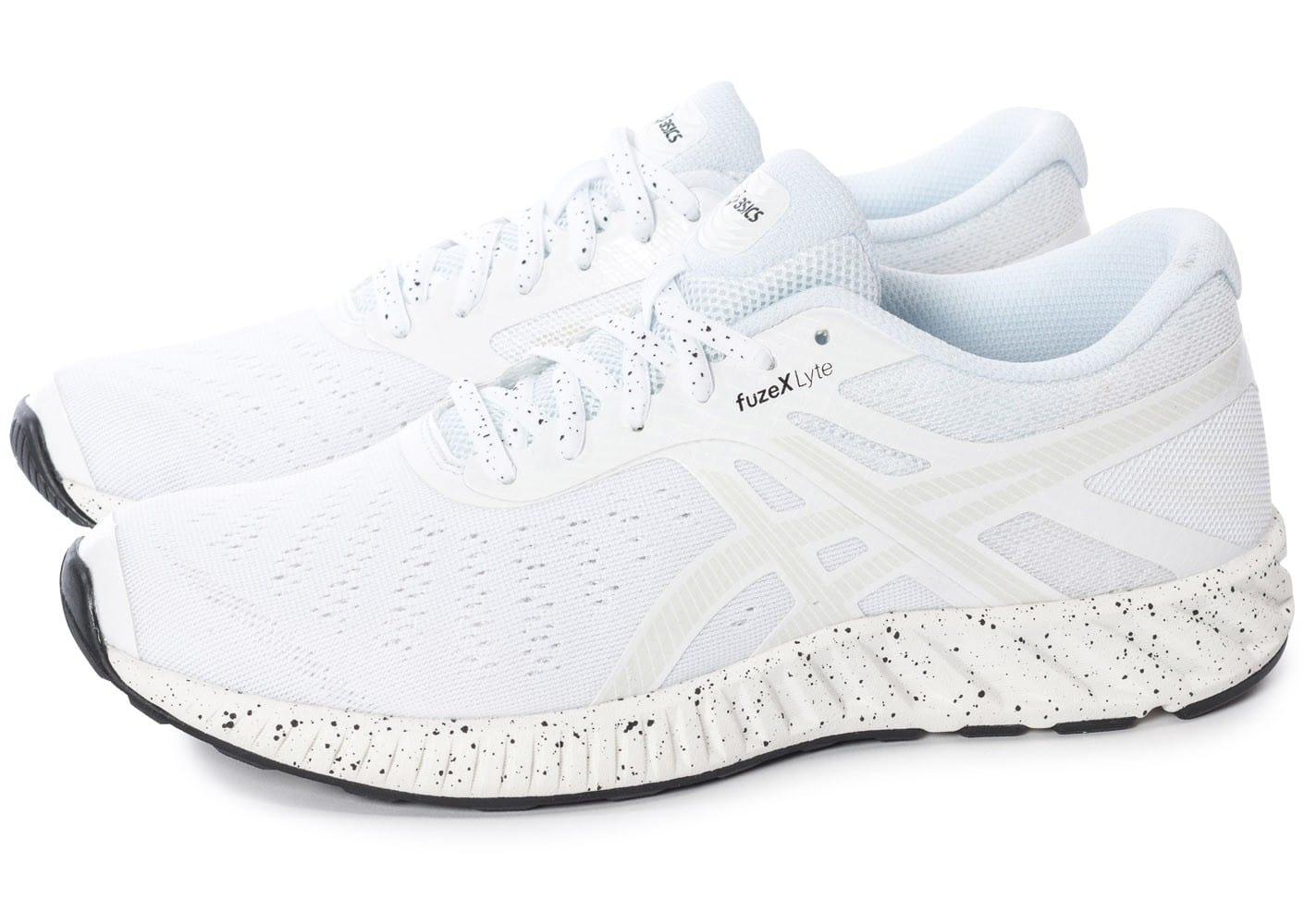 asics fuzex lyte white noise blanche chaussures homme chausport. Black Bedroom Furniture Sets. Home Design Ideas