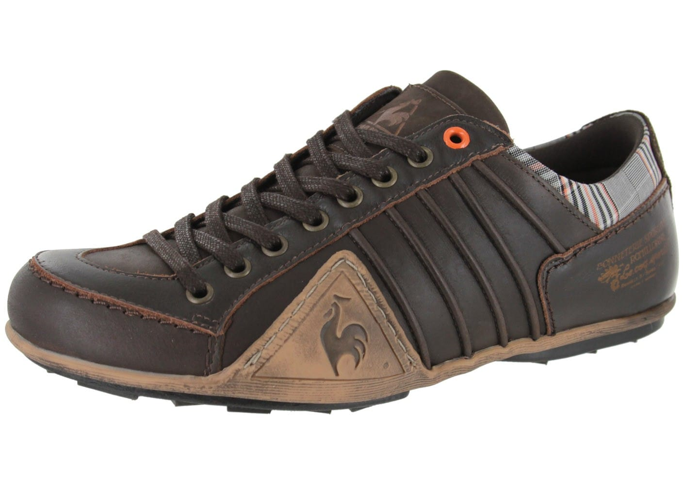 le coq sportif buffalo cuir reglisse chaussures homme chausport. Black Bedroom Furniture Sets. Home Design Ideas