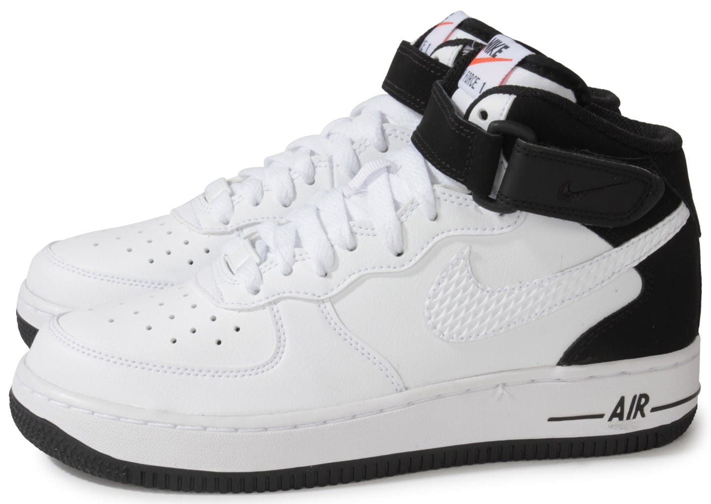 nike air force 1 mid junior blanche et noire chaussures chaussures chausport. Black Bedroom Furniture Sets. Home Design Ideas
