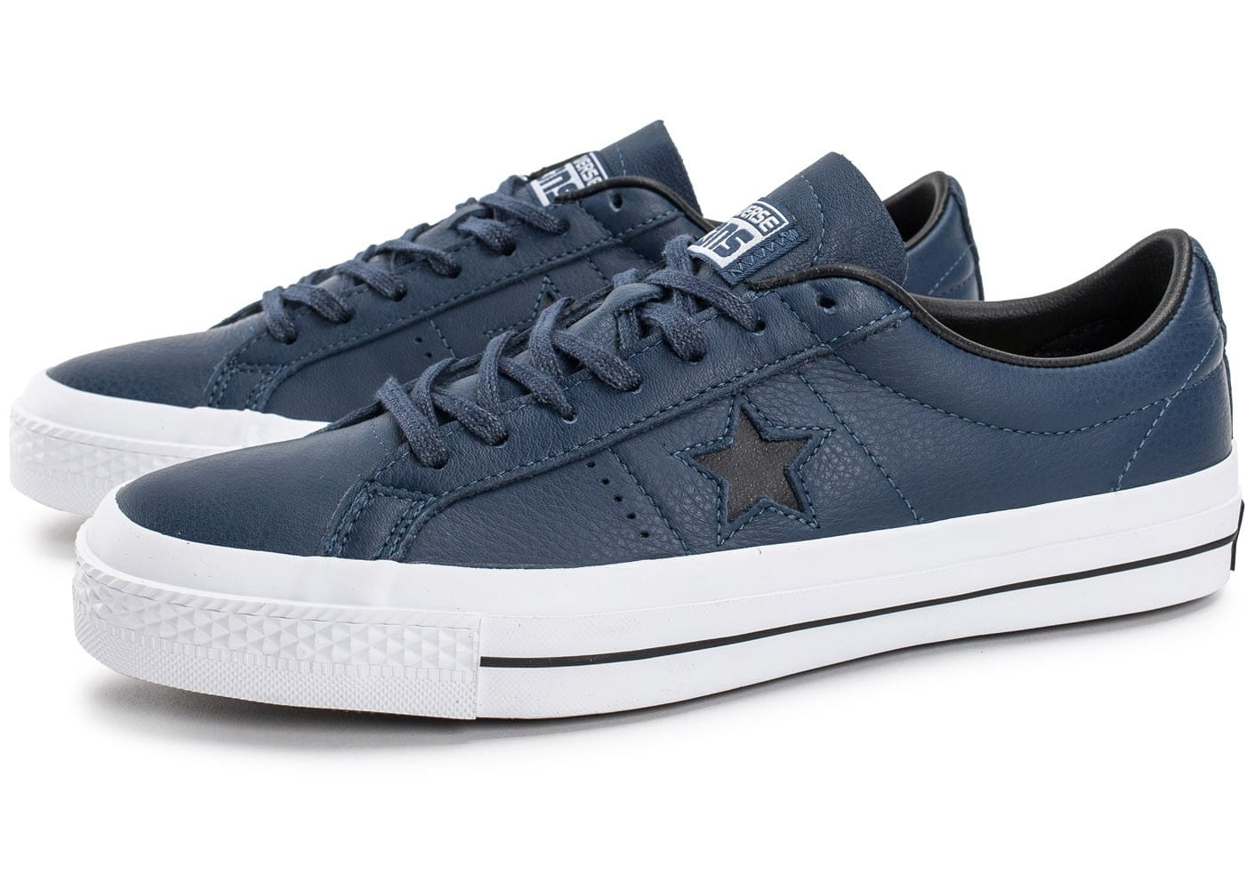 converse one star leather bleu marine chaussures homme chausport. Black Bedroom Furniture Sets. Home Design Ideas