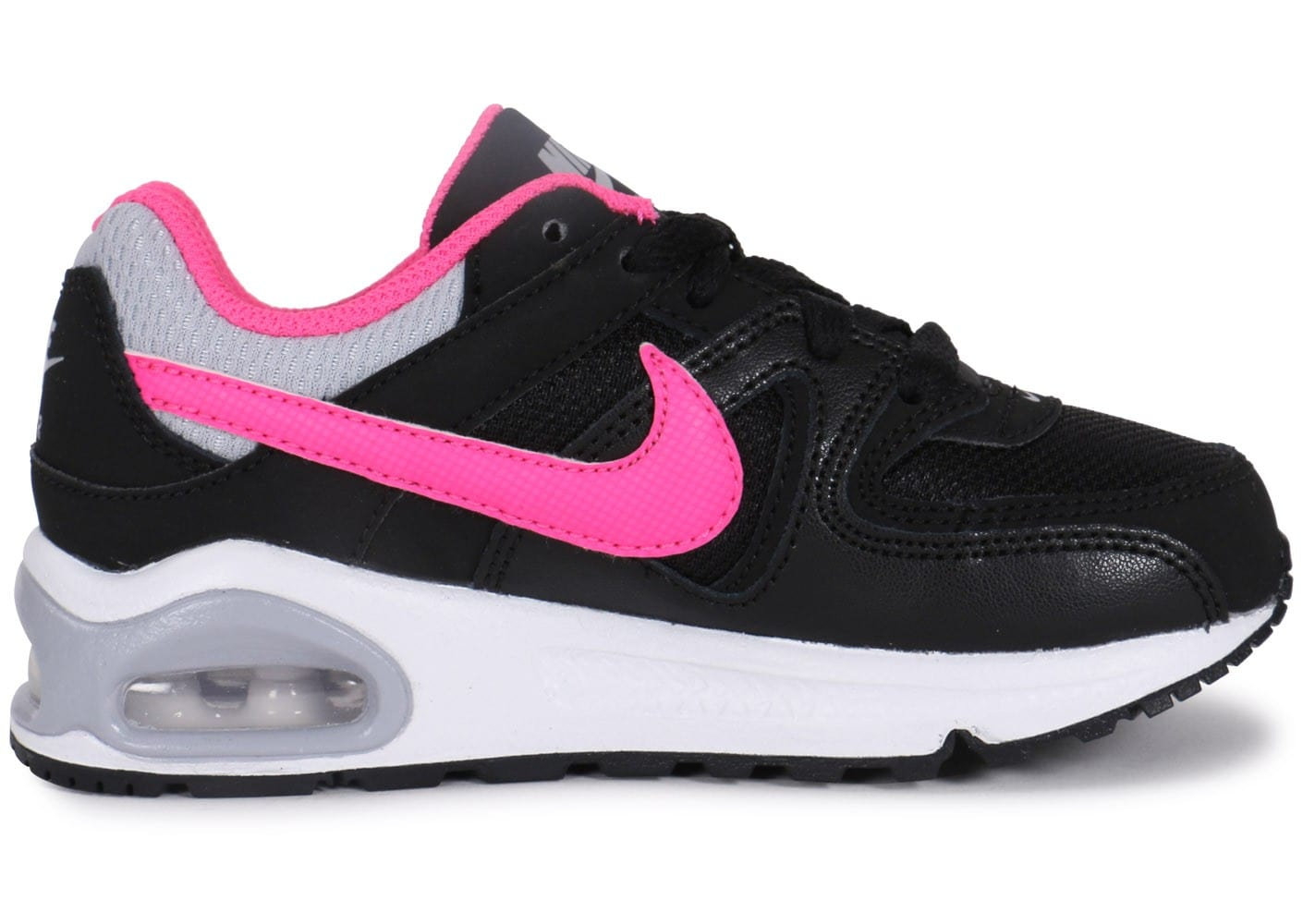 nike air max command noir et rose enfant chaussures chaussures chausport. Black Bedroom Furniture Sets. Home Design Ideas