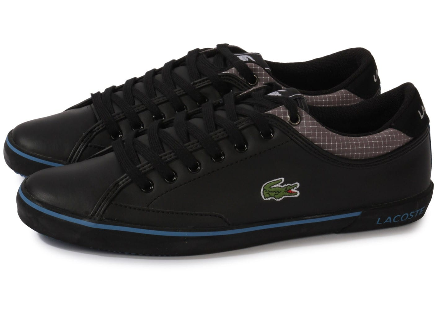 lacoste angha cuir noire chaussures homme chausport. Black Bedroom Furniture Sets. Home Design Ideas