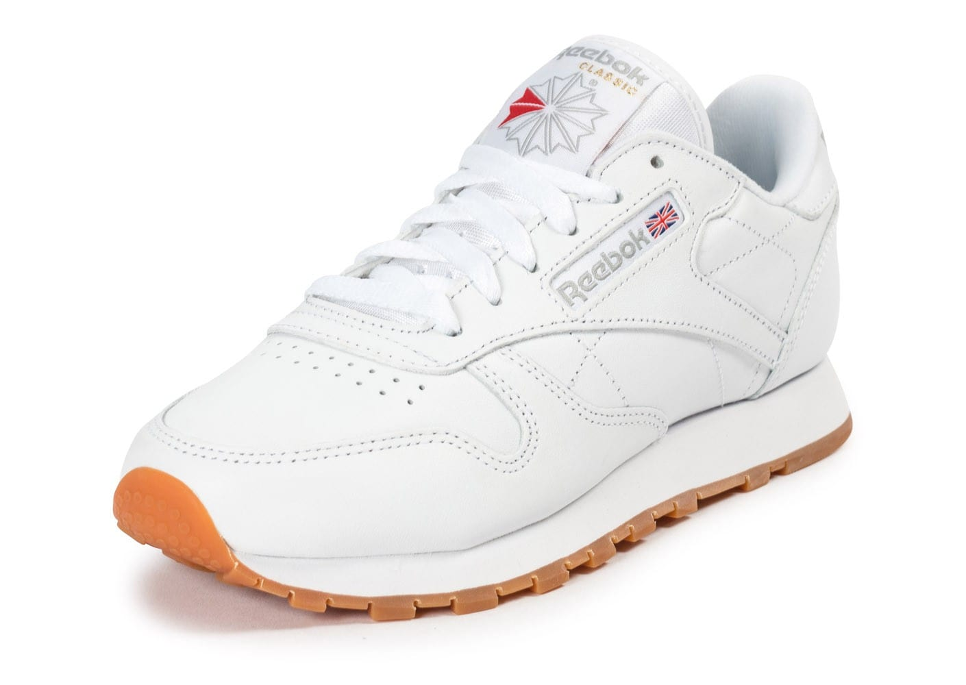 reebok classic leather gum blanche chaussures pour. Black Bedroom Furniture Sets. Home Design Ideas