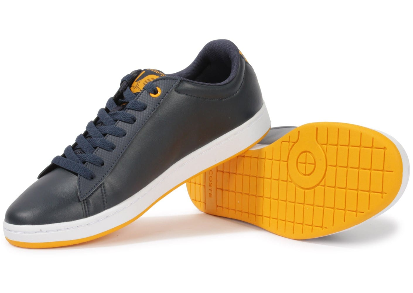 Lacoste carnaby evo bleu marine chaussures homme chausport - Lacoste carnaby evo cls baskets en cuir perfore ...