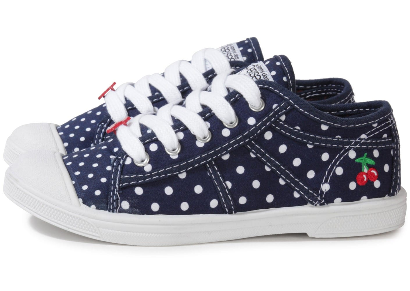 le temps des cerises basic 02 dots bleu marine enfant chaussures chaussures chausport. Black Bedroom Furniture Sets. Home Design Ideas