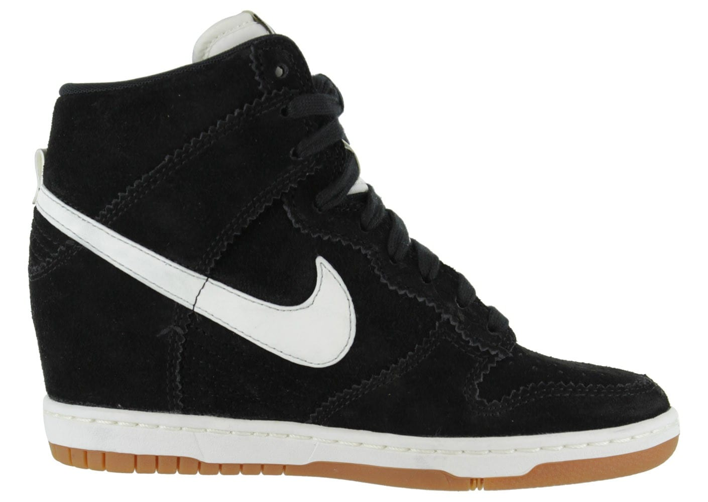 check out a2f69 ddebb chaussures nike dunk sky noire vue interieure