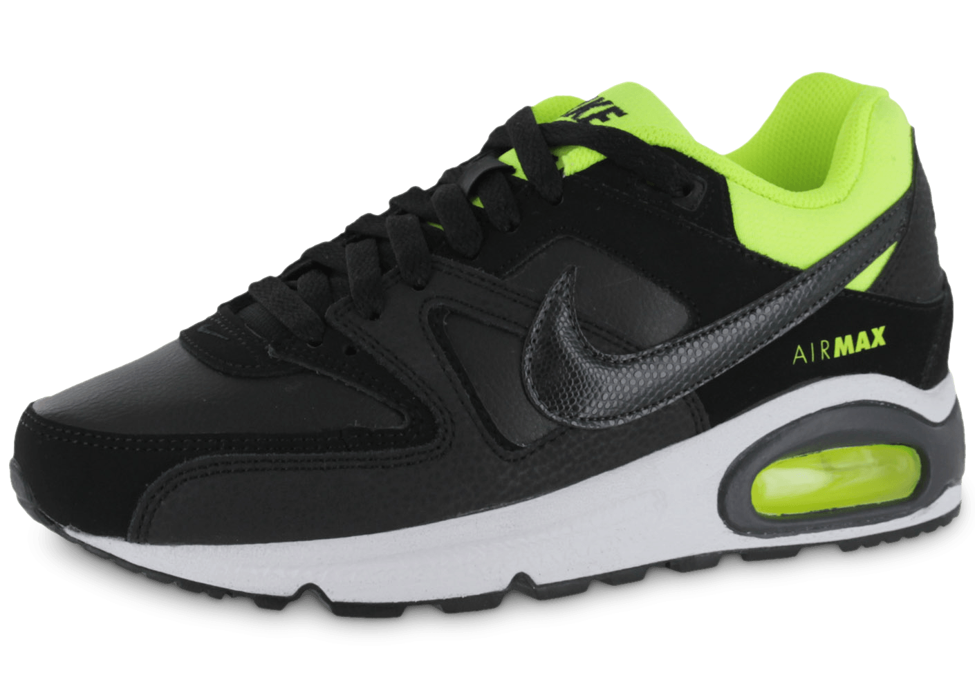 nike air max command junior noire chaussures chaussures chausport. Black Bedroom Furniture Sets. Home Design Ideas