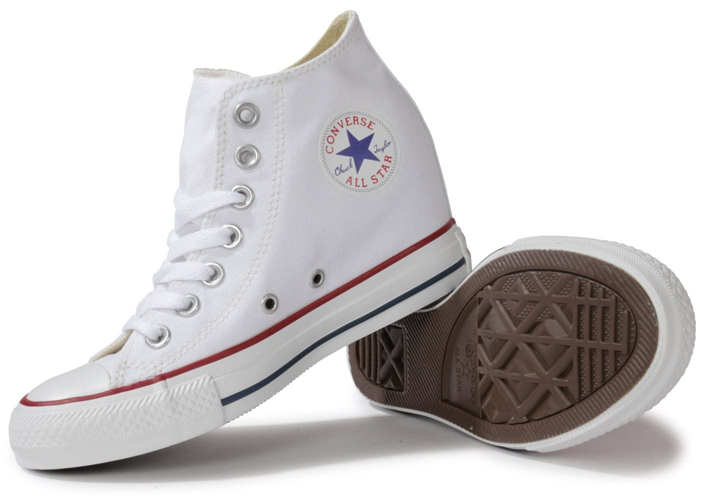 converse chuck taylor all star compens e blanche chaussures chaussures chausport. Black Bedroom Furniture Sets. Home Design Ideas