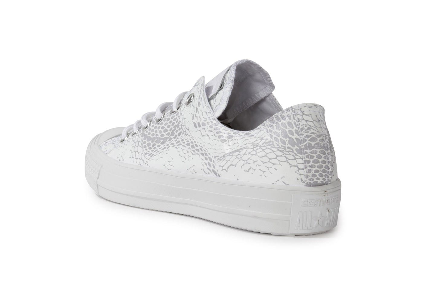 Chaussures Converse CHUCK TAYLOR ALL STAR REPTILE BLANCHE vue arrière