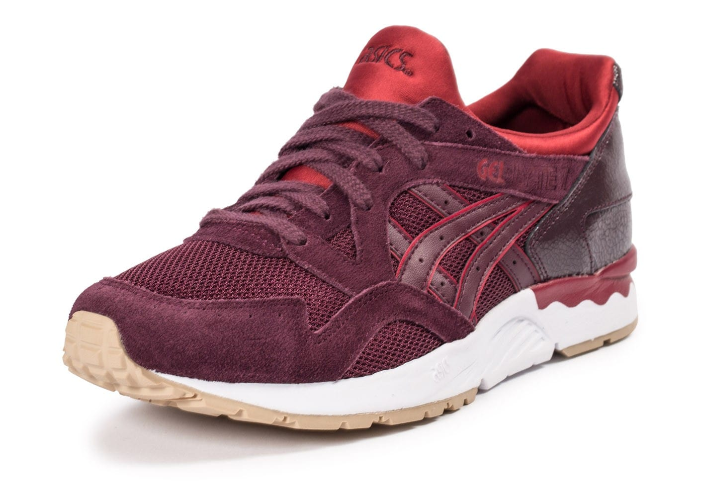 asics gel lyte v core plus bordeaux chaussures homme chausport. Black Bedroom Furniture Sets. Home Design Ideas