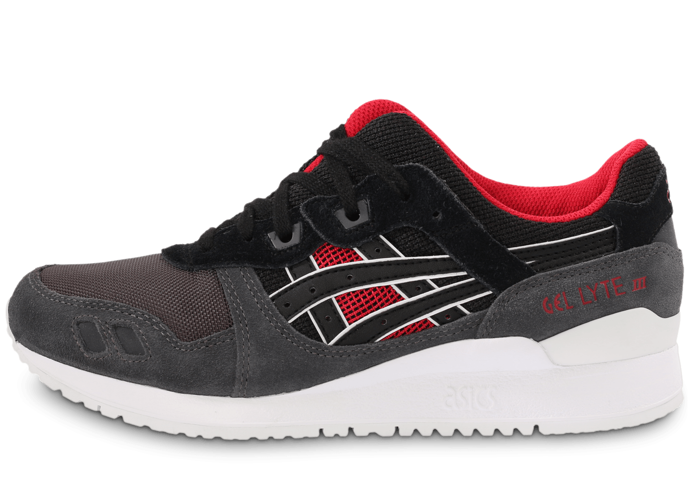 asics gel lyte iii chaussures coloris noir rouge beige. Black Bedroom Furniture Sets. Home Design Ideas