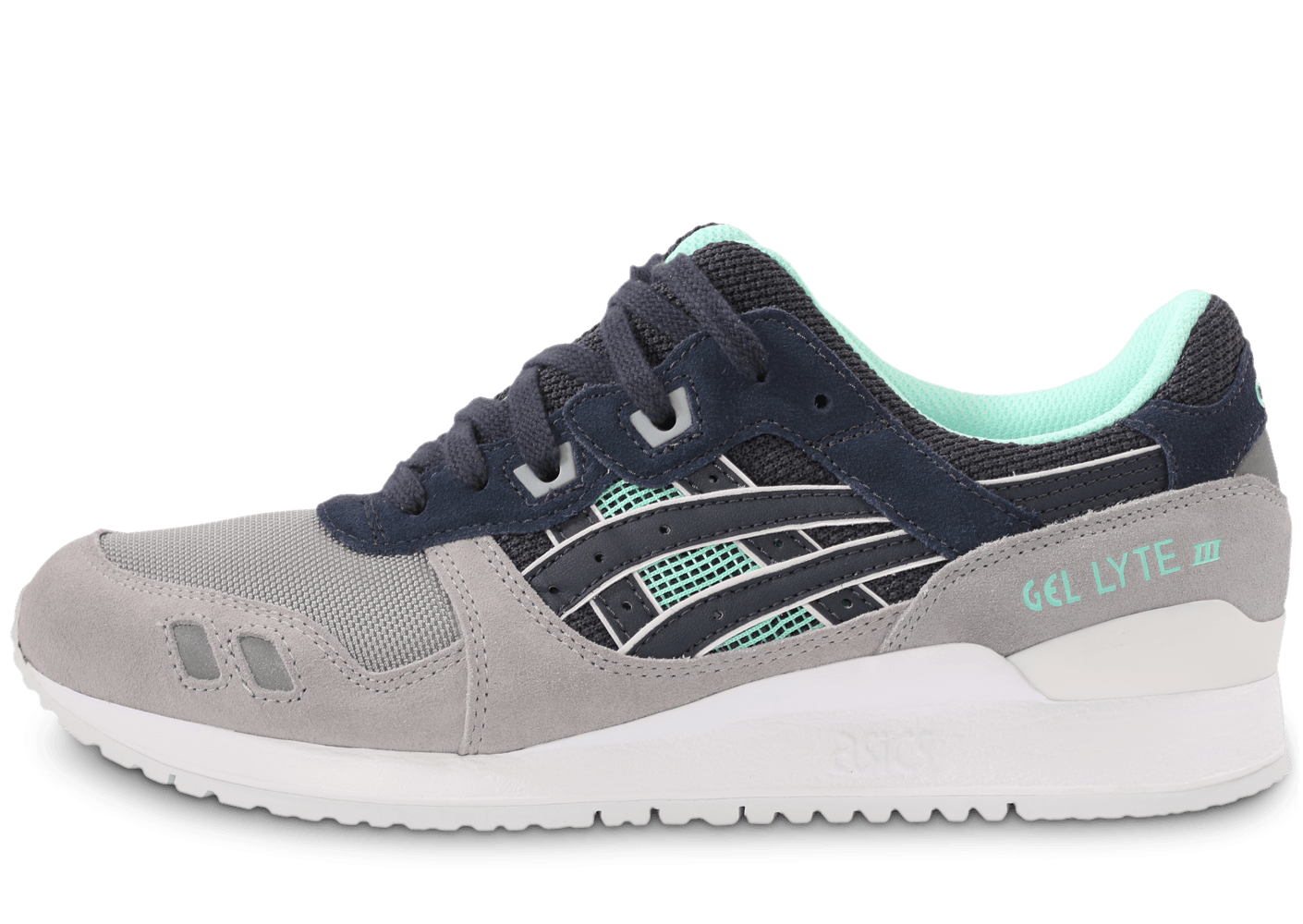 asics gel lyte iii gris et bleu chaussures homme chausport. Black Bedroom Furniture Sets. Home Design Ideas