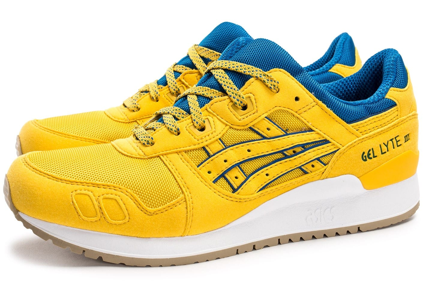 asics gel lyte iii rio pack jaune chaussures homme chausport. Black Bedroom Furniture Sets. Home Design Ideas