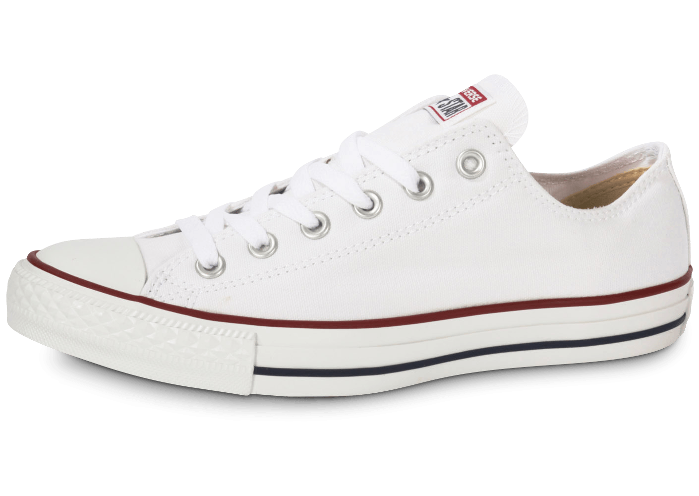 converse chuck taylor all star low blanche chaussures femme chausport. Black Bedroom Furniture Sets. Home Design Ideas