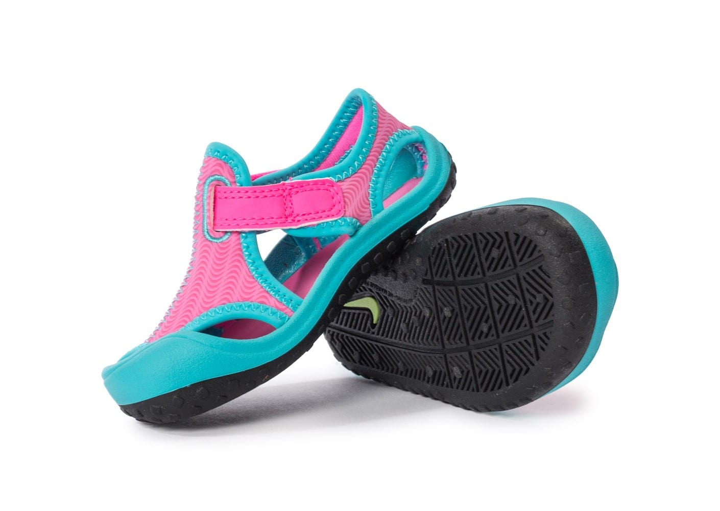 the best attitude 9f373 7c3b8 ... chaussures nike sunray protect bebe rose vue dessous semelle