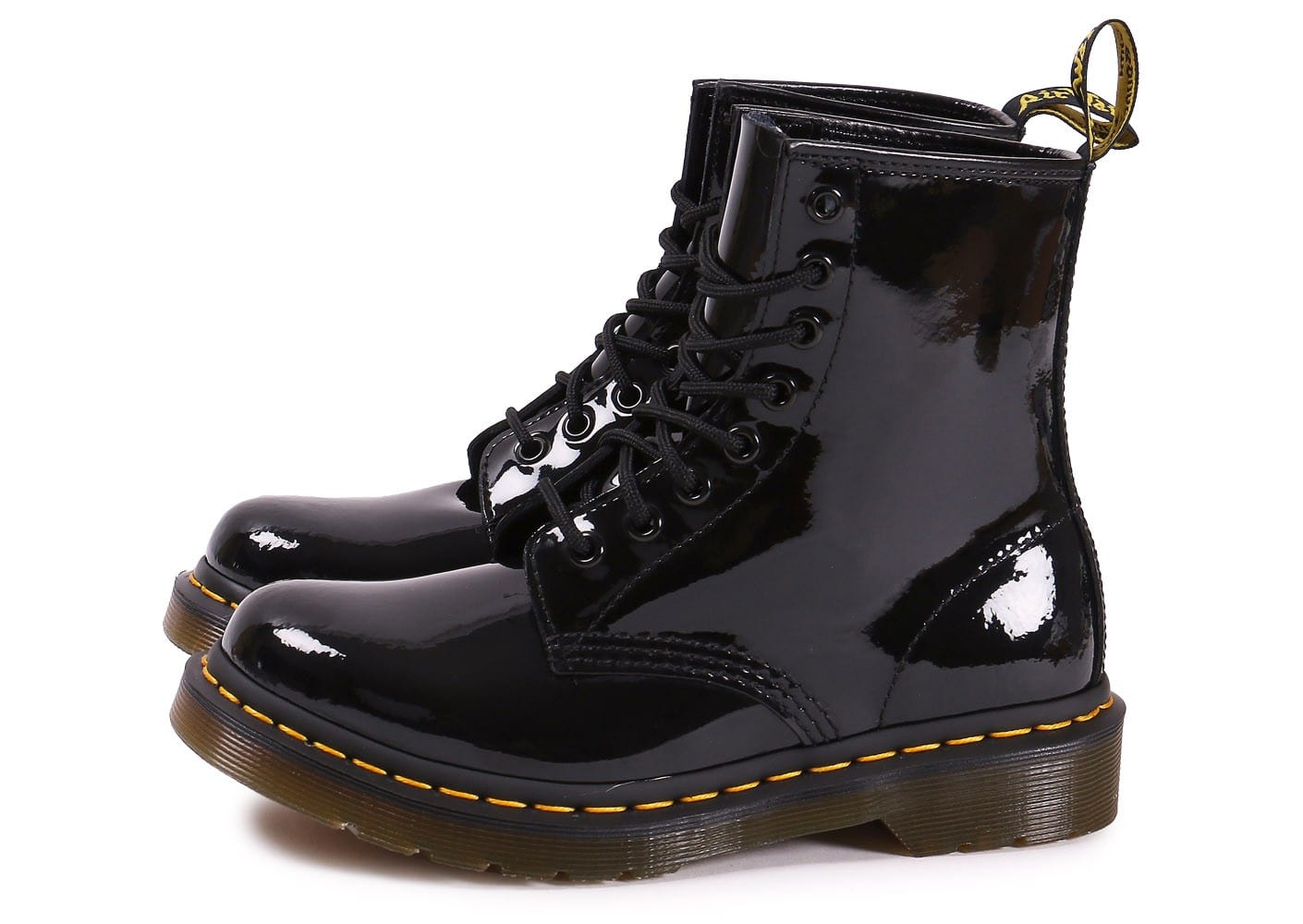 dr martens 1460 w vernis noire chaussures 50 sur le 2e article chausport. Black Bedroom Furniture Sets. Home Design Ideas