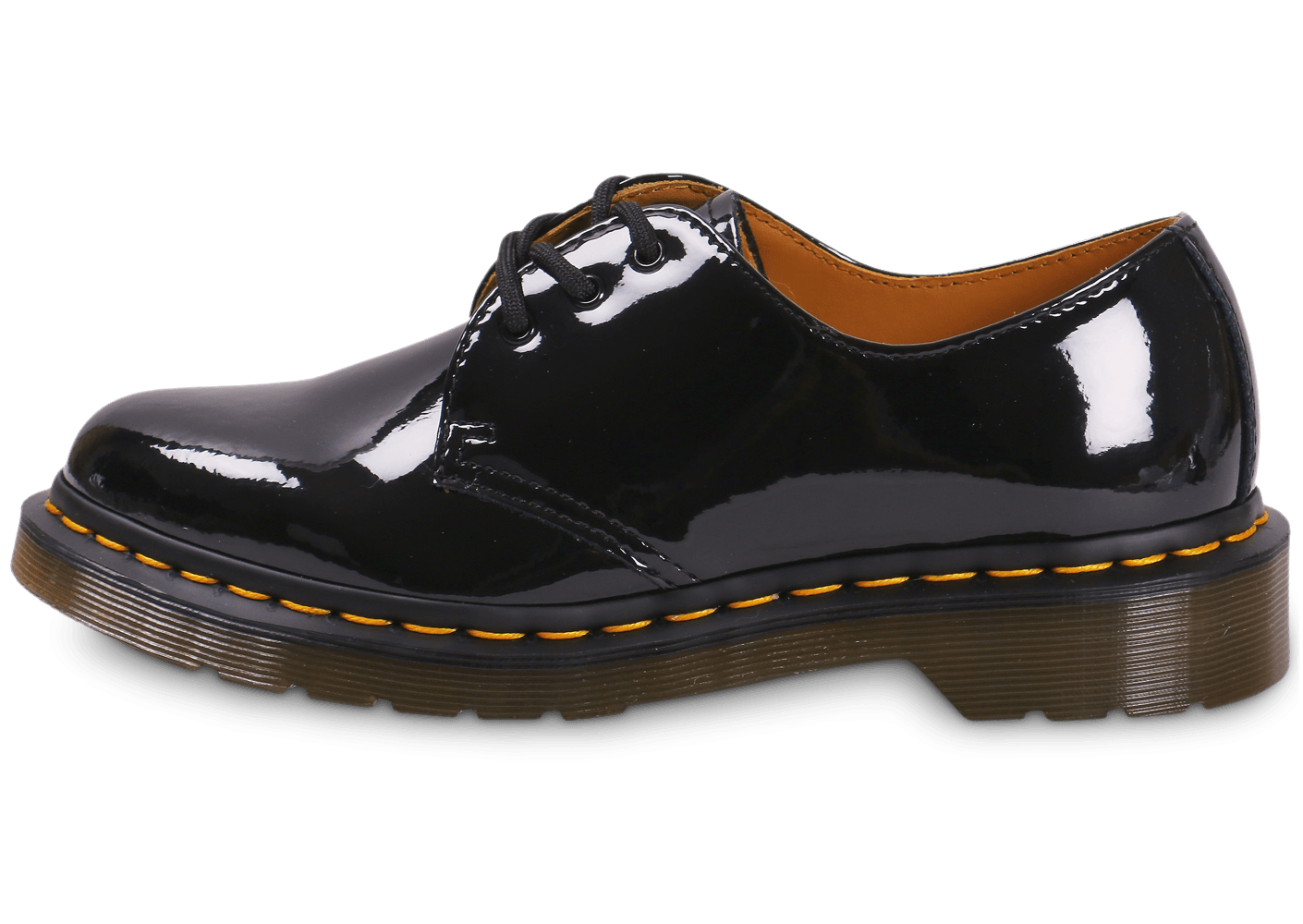 dr martens 1461 w vernis noire chaussures black friday. Black Bedroom Furniture Sets. Home Design Ideas