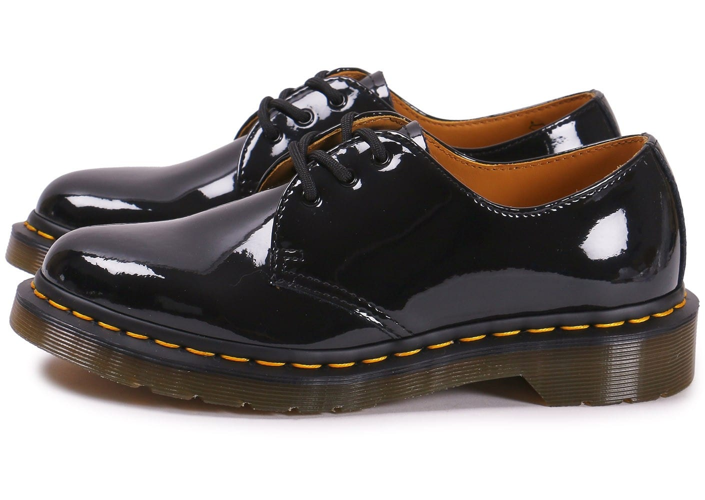 dr martens 1461 w vernis noire chaussures 50 sur le 2e article chausport. Black Bedroom Furniture Sets. Home Design Ideas