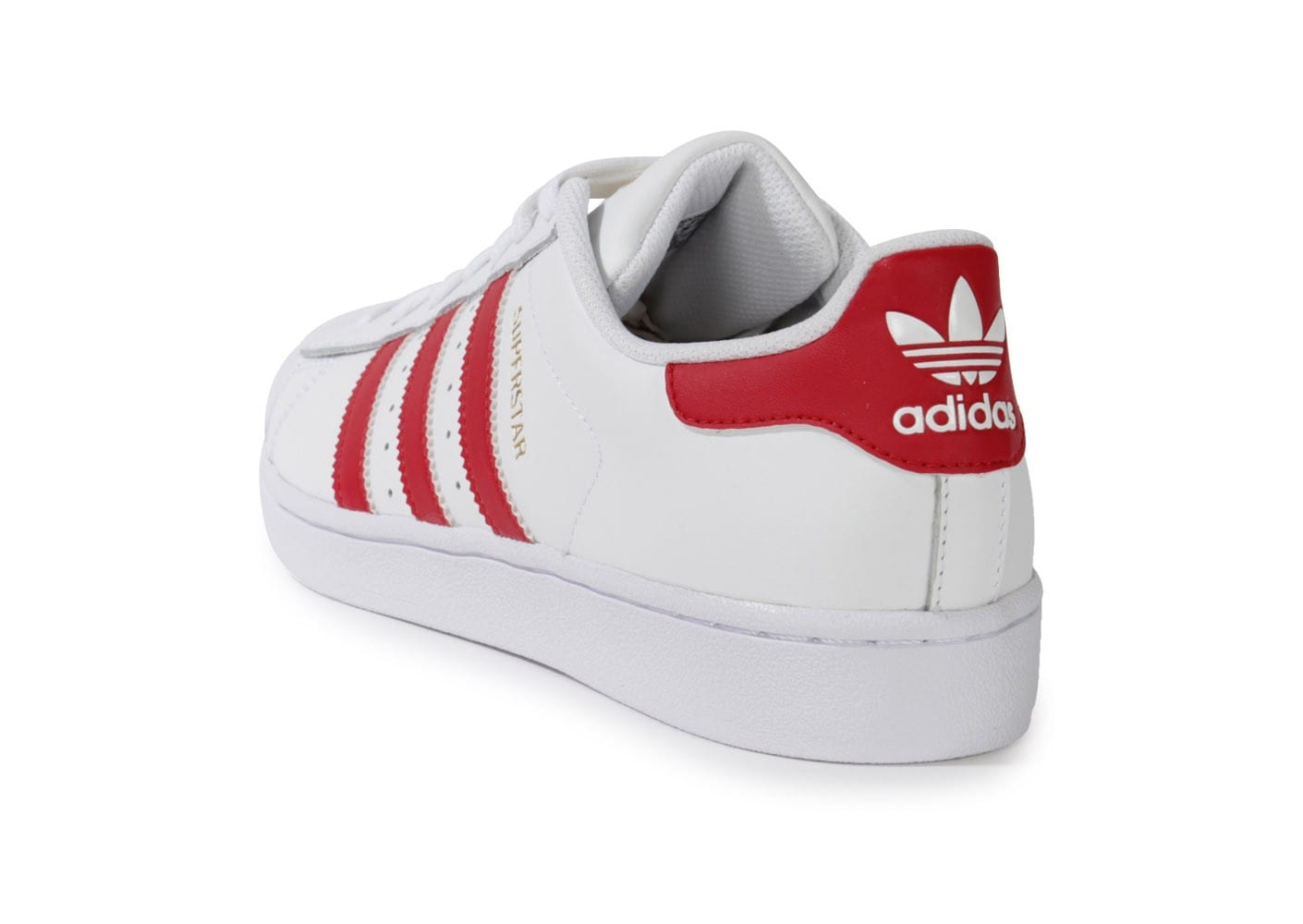 adidas superstar blanche et rouge chaussures baskets. Black Bedroom Furniture Sets. Home Design Ideas