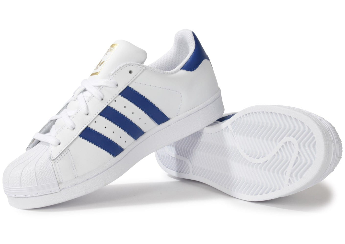 adidas superstar foundation blanc bleu chaussures homme chausport. Black Bedroom Furniture Sets. Home Design Ideas